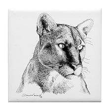 Mountain Lion Tile Coaster