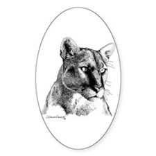 Mountain Lion Oval Decal