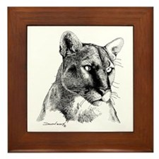 Mountain Lion Framed Tile