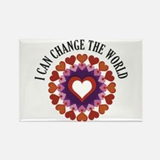 I can change the world Rectangle Magnet (10 pack)