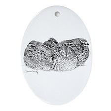 Bob White Quail Oval Ornament