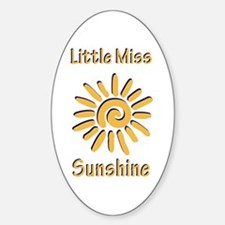 Little Miss Sunshine Oval Decal