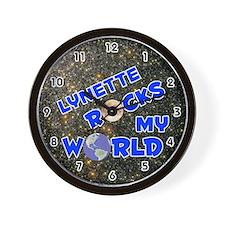 Lynette Rocks My World (Blue) Wall Clock
