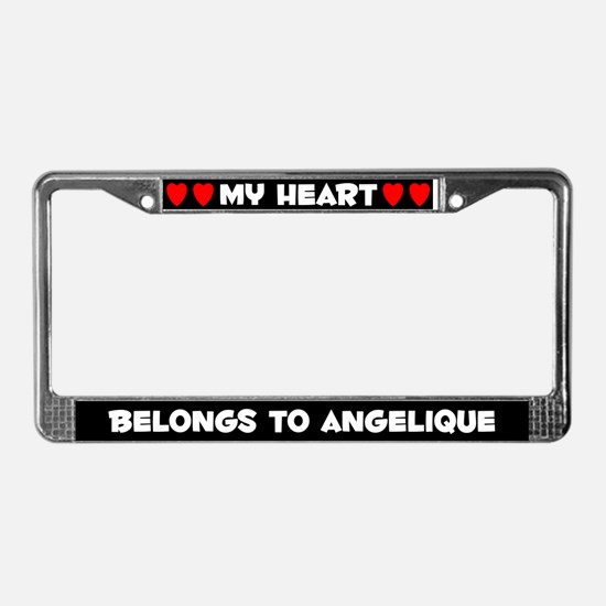 My Heart: Angelique (#001) License Plate Frame