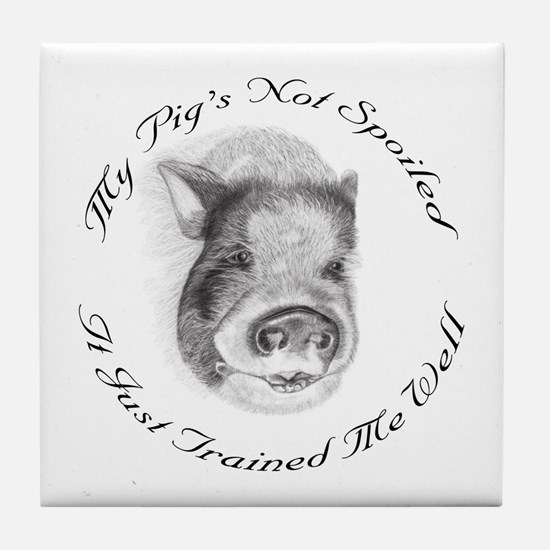 My pigs not spoiled, its just trained me well Tile