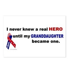 Never Knew A Hero.....Granddaughter (ARMY) Postcar