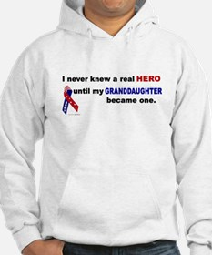 Never Knew A Hero.....Granddaughter (ARMY) Hoodie