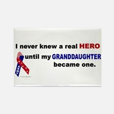 Never Knew A Hero.....Granddaughter (ARMY) Rectang