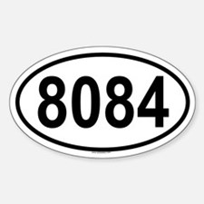 8084 Oval Decal