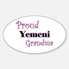 Proud Yemeni Grandma Oval Decal