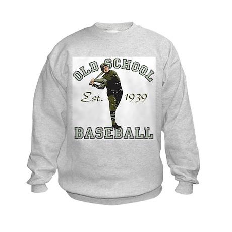 Old School Baseball Kids Sweatshirt