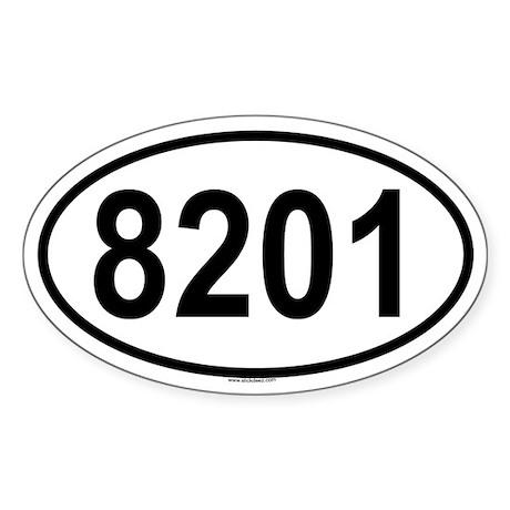 8201 Oval Sticker