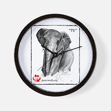 """71"" African Elephant, PAWSWeb.org Wall Clock"