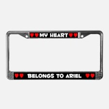 My Heart: Ariel (#001) License Plate Frame
