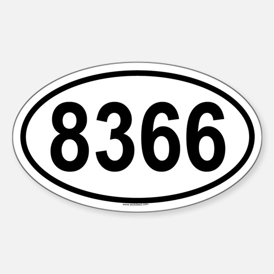 8366 Oval Decal