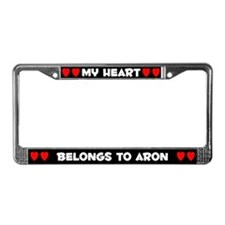 My Heart: Aron (#001) License Plate Frame