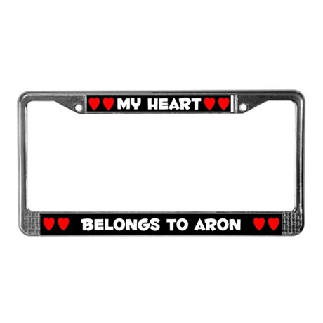 My Heart: Aron (#001) License Plate Frame