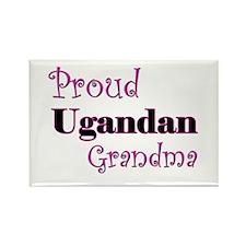 Proud Ugandan Grandma Rectangle Magnet