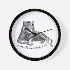 Tiger Rescue, PAWSWeb.org Wall Clock