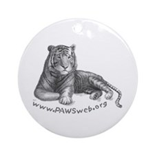 Tiger Rescue, PAWSWeb.org Ornament (Round)