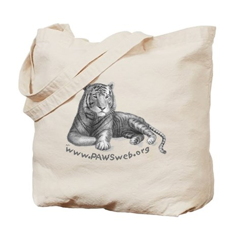Tiger Rescue, PAWSWeb.org Tote Bag