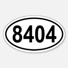 8404 Oval Decal