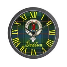 Davidson Clan Crest / Tartan Wall Clock