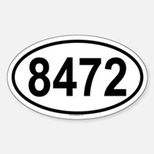 8472 Oval Decal