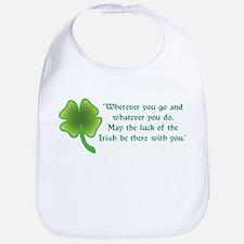 May the Luck of the Irish be Bib
