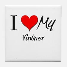 I Heart My Vintner Tile Coaster