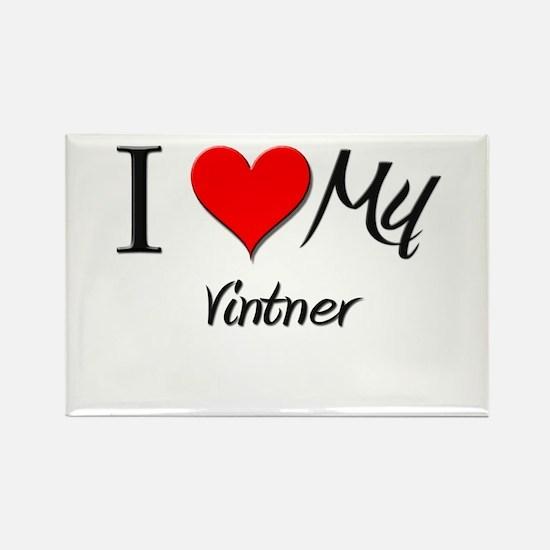 I Heart My Vintner Rectangle Magnet