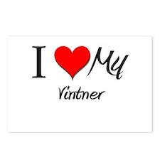 I Heart My Vintner Postcards (Package of 8)