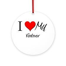 I Heart My Vintner Ornament (Round)