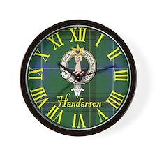 Henderson Clan Crest / Tartan Wall Clock