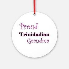 Proud Trinidadian Grandma Ornament (Round)