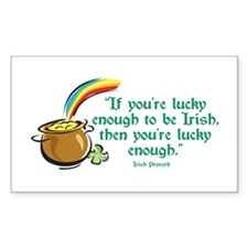 Lucky enough to be Irish Rectangle Decal