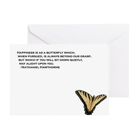 Happiness is as a butterfly - Greeting Card