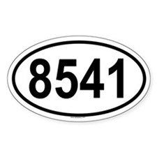 8541 Oval Decal
