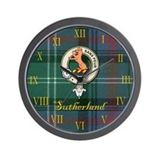 Sutherland Clan Badge / Crest / Tartan Clock Wall