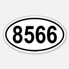8566 Oval Decal