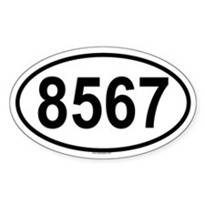 8567 Oval Decal