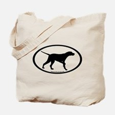 Pointer Dog Oval Tote Bag