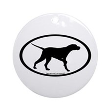 Pointer Dog Oval Ornament (Round)