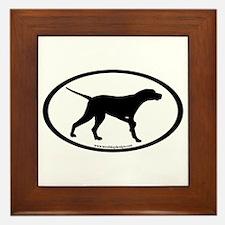 Pointer Dog Oval Framed Tile