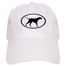 Pointer Dog Oval Baseball Cap