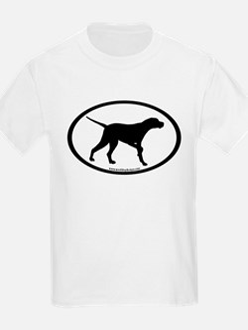 Pointer Dog Oval T-Shirt