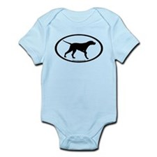 Pointer Dog Oval Infant Bodysuit