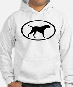 Pointer Dog Oval Hoodie