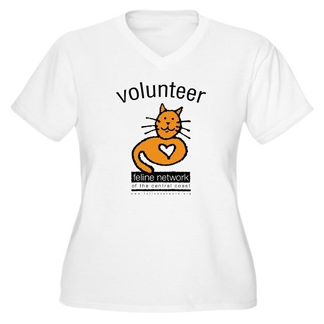 Feline Network Women's Plus Size V-Neck T-Shirt