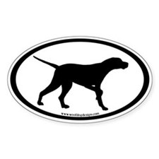 Pointer Dog Oval (inner border #2) Oval Decal